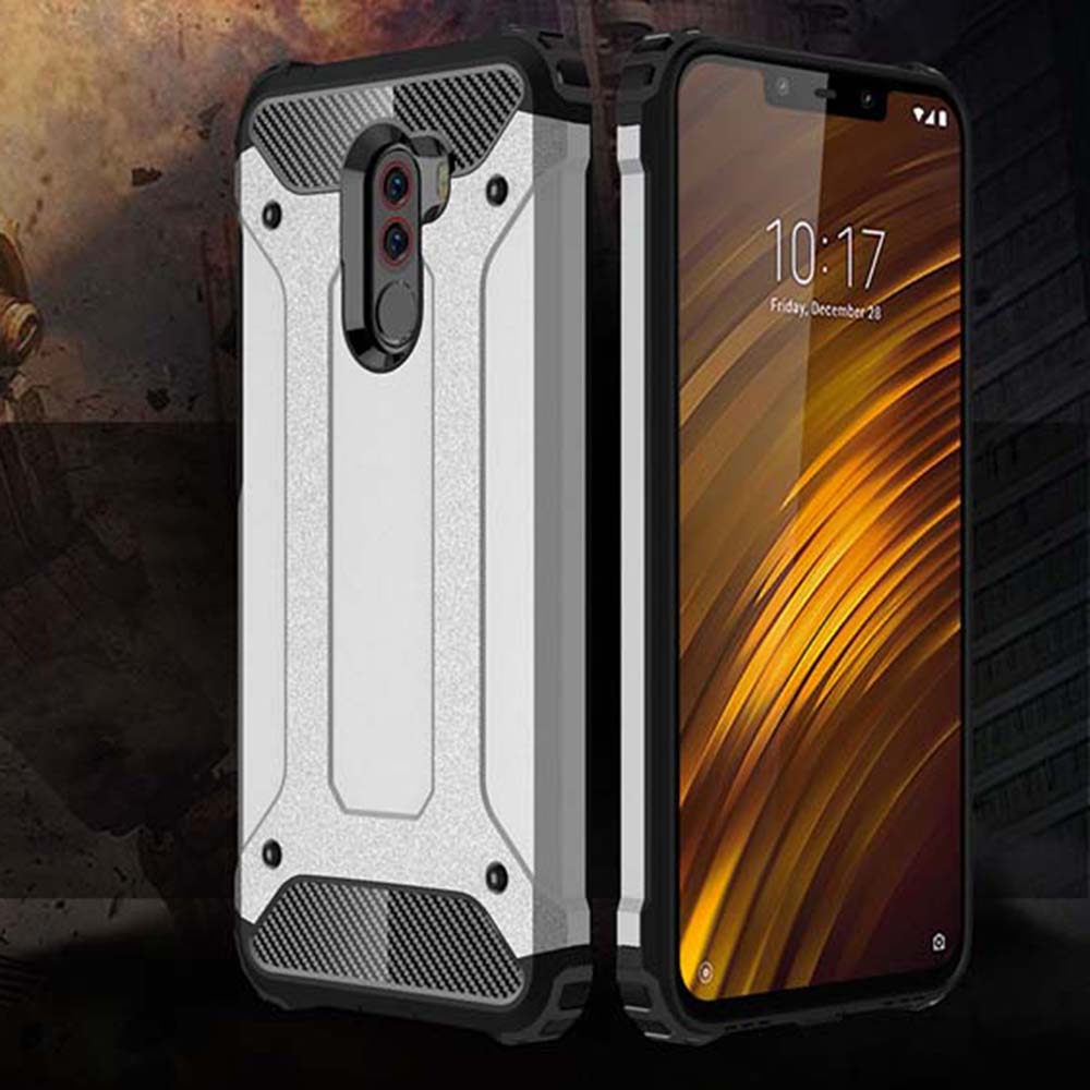 Shockproof Armor Coque Cover 5.99For Xiaomi Pocophone F1 Case For Xiaomi Mi Pocophone Poco F1 Phone Back Coque Cover Case(China)