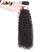 Malaysian Curly Hair 1 Piece Ably 100% Remy Human Hair Weave Bundles Hair Extensions No Tangle Curly Weave Human Hair