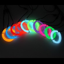 1/2/3/5/10M EL Draht DIY Flexible Neon Licht Glow Seil Band Kabel LED String Licht Für Party Dance Auto Dekoration(China)