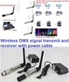 2.4G ISM Masculino Feminino 3 Pinos XLR DMX512 Sem Fio Receptor de Transmissão dispositivo para luzes do partido led movendo iluminação de palco par plugue da ue