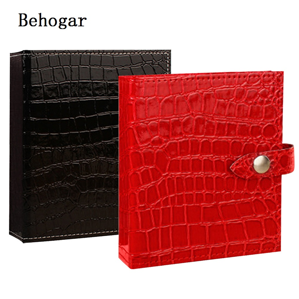 Behogar 20 Pairs PU Leather Women Jewelry Travel Jewelry Organizer Earrings Rings Stud Collection Storage Box Cover Case Holder