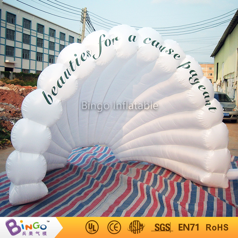 Free shipping Giant Double layer inflatable seashell tents for sale toy tents