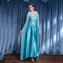 Queen Elsa Dresses Elsa Elza Costumes Princess Anna Blue Dress Girl Party Vestidos Fantasia Adult Women Clothing Party Cloak Set summer girl dress elsa dress set baby kids cosplay party dress princess anna dresses elza vestidos infants for children costumes