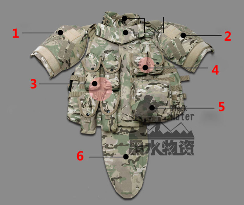 OTV Tactical Vest Camouflage Fight Body Armor With Pouch / Pad ACU - Sikkerhed og beskyttelse - Foto 4