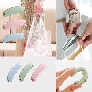 Image 3 - 2pc sac dépicerie Silicone support de levage poignée poignée outil de transport facile rainures antidérapantes support de Surface