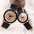 Os homens Assistir Top Marca de Luxo Esporte Relógios Casal de Couro Relogio masculino Relógios de Quartzo Moda Relógios Relojes de Los Pares
