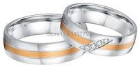 Мужского покроя high end розовое цвет золотистый декор здоровья titanium обручальные кольца пар наборы для обувь для мужчин и женщин