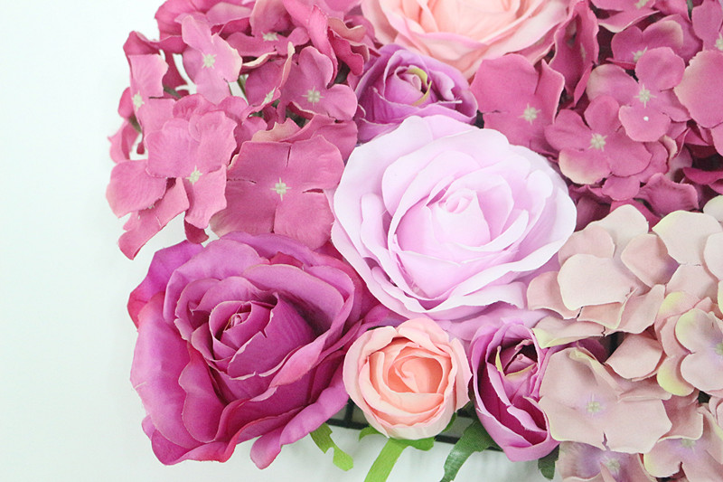 Flone Wedding Decoration Silk Roses Hydrangea Flowers Wall Wedding Background Decoration Arch Flower Row Decoration (10)