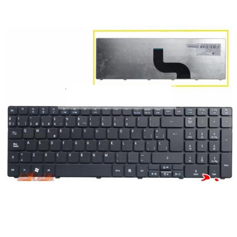 Spanish Keyboard For Packard Bell Easynote TK37 TK81 TK83 TK85 TK36 TX86 LX86 TK87 TM05 TM80 TM81 TM97 NEW91 SP Laptop Keyboard