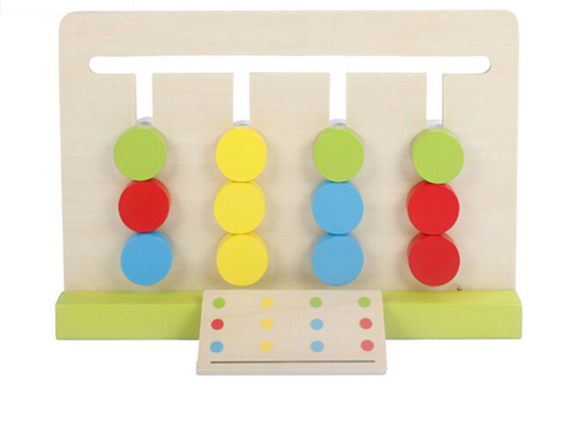 Baby Toy Four Colors Game Color Matching for Early Childhood Education Preschool Training Learning Toys