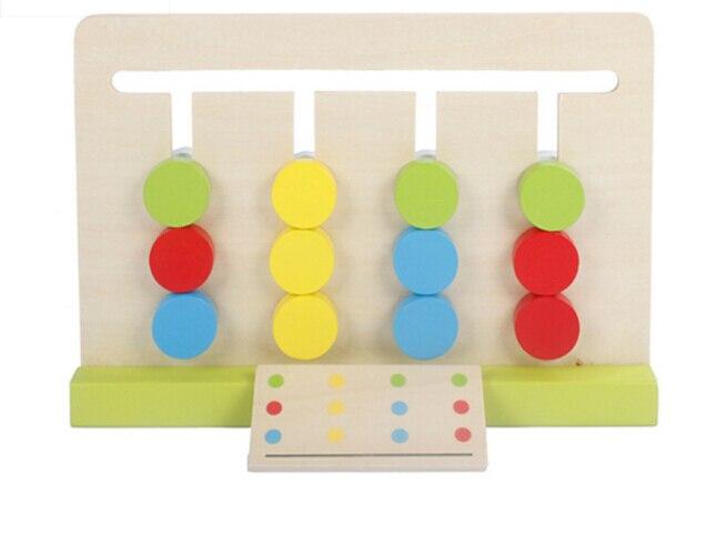 Jouet de bébé quatre couleurs jeu correspondant à la couleur pour l'éducation de la petite enfance jouets d'apprentissage de formation préscolaire