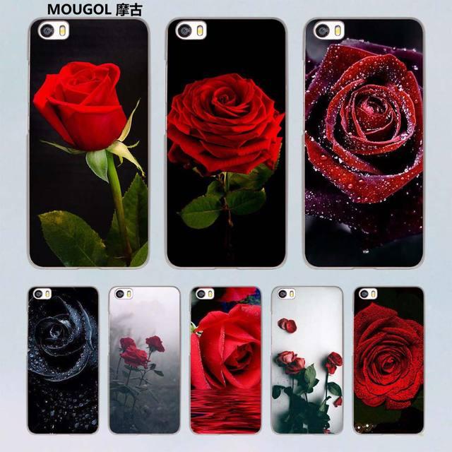 Mougol Red Rose Flowers Hd Wallpaper Design Transparent Hard Case
