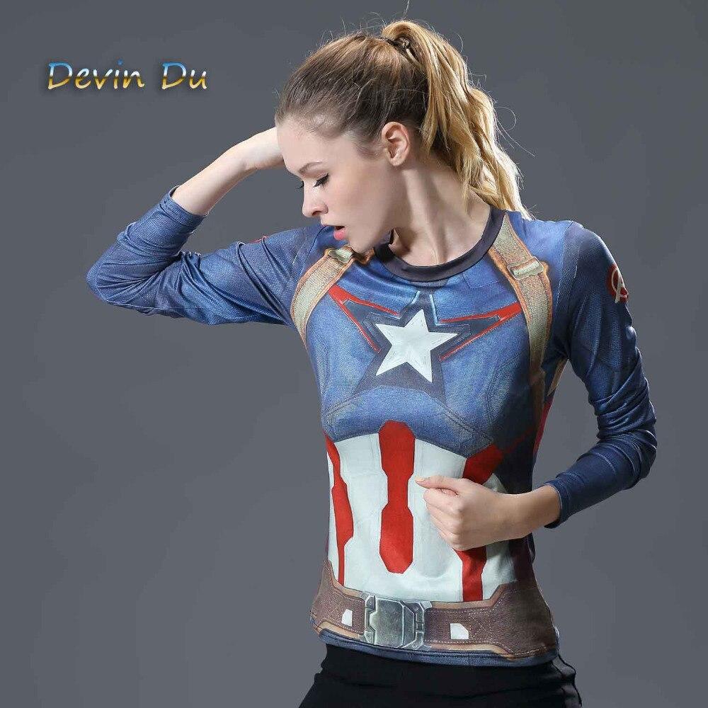Superman T-shirts Femmes Manches Longues Fitness Absorber La Sueur Femme T Shirt De Compression Tops Camisetas Mujer À Séchage Rapide