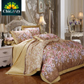 Luxury Satin Bedding Set King Queen Size Brand Printed Floral Bed Sets High Quality Cotton Duvet Cover BedSheet Pillowcases 4pcs