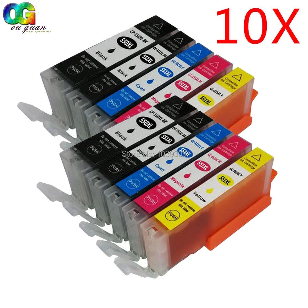 10 pgi 550 cli 550 cartuccia di inchiostro compatibile pgi-cli-xl per canon pixma mg5450 pixma ip7250 pixma mg6350 stampante
