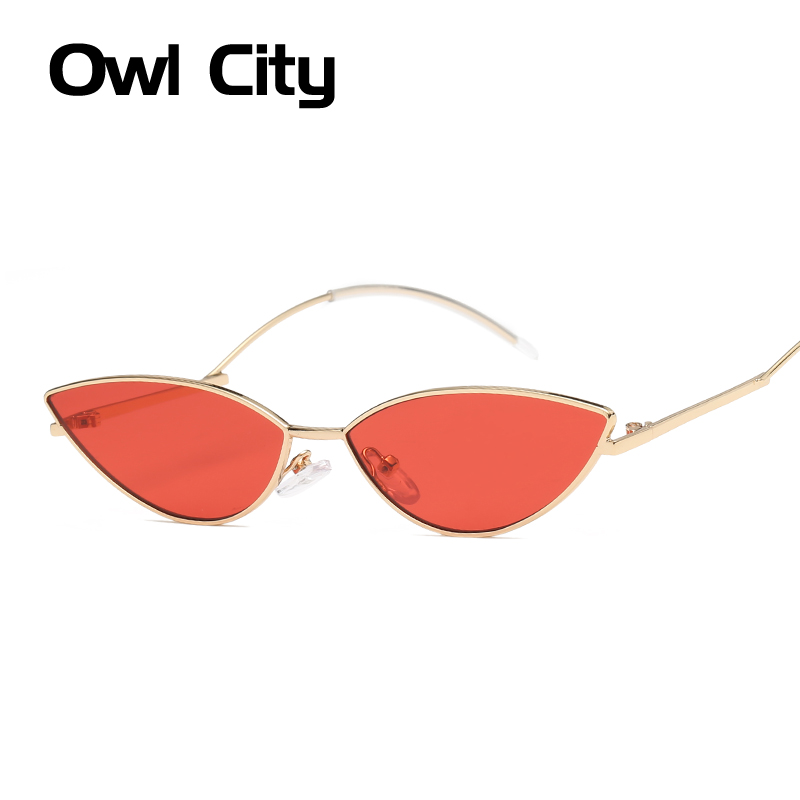 Owl City Cat Eye Sunglasses Women New 2018 Fashion Cateye Sunglass Red Sun Glasses Pink Eyewear brand designer shades for female