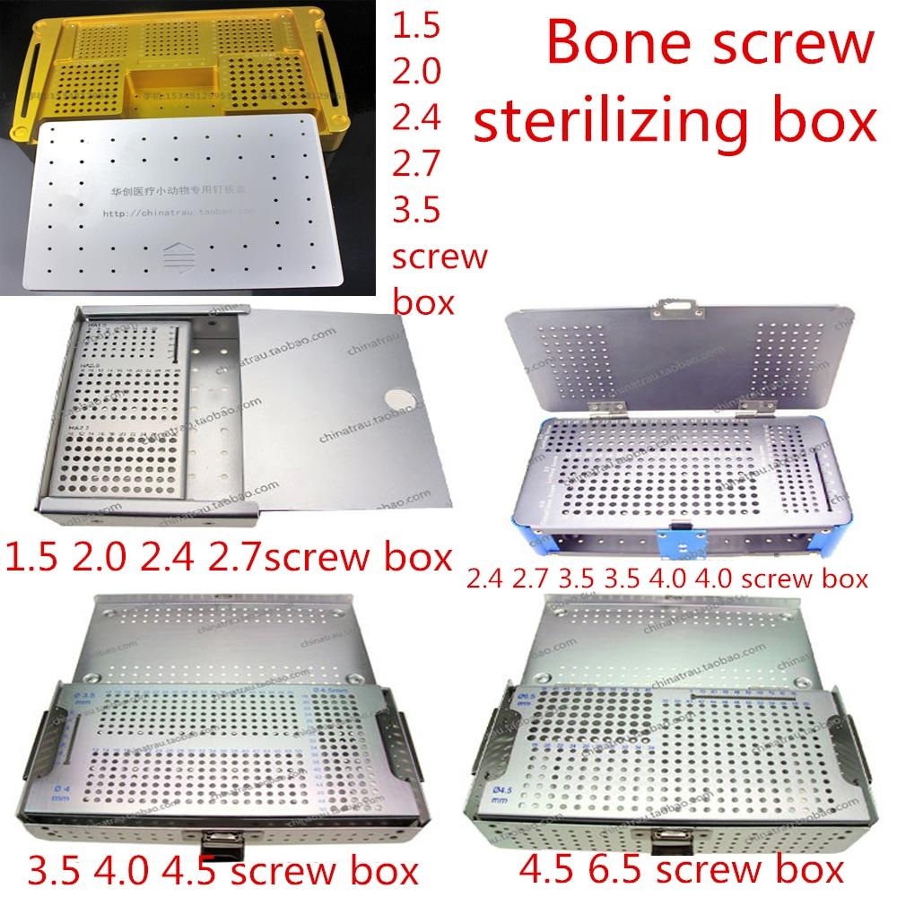 Peralatan ortopedik perubatan mengunci plat skru Peti sterilizing Cortical cancellous skru Penyimpanan Tempat Tray bolt Deposit kes