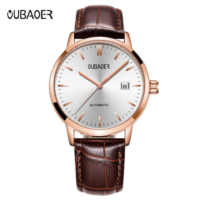 mens watch oubaoer brand genuine leather man watches mens mechanical automatic luxury wristwatches waterproof Citizen movementmens watch oubaoer brand genuine leather man watches mens mechanical automatic luxury wristwatches waterproof Citizen movement
