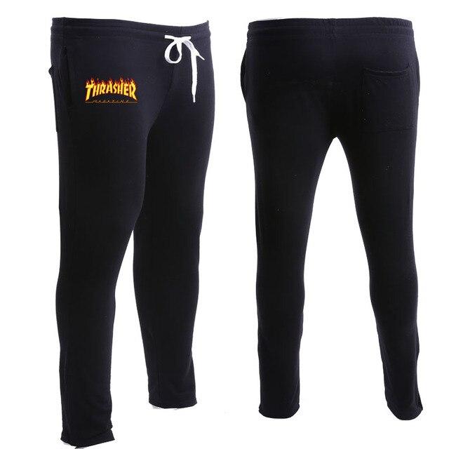 Thrasher Штаны Мужчины Женщины Скейтборды gymshark брюки Марка Одежды Костюм Тощие Бегунов Громила Случайные Штаны Мужчин