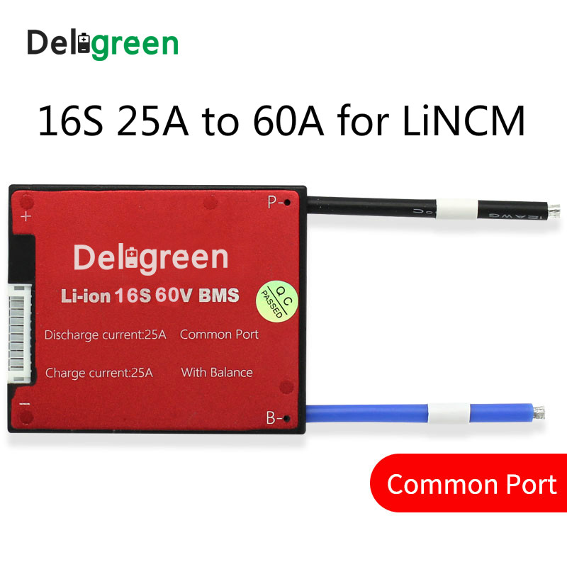 16S 25A35A45A60A60VPCM PCB BMS common port for 3 7V LiNCM battery pack 18650 Lithion Ion Battery