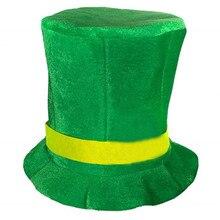 047541bf18259 Verde Irlandês St Patricks Day Chapéu do Vestido Extravagante Do Partido  Bobo Da Corte Superior HatCostume Cosplay Festival