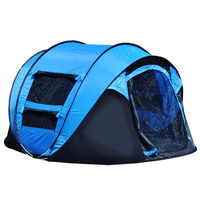 2018 large automatic multi-person camping tent outdoor second account account log account open billing beach tent