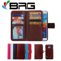 1x Luxury Crazy Horse Leather Wallet Case For Samsung Galaxy S5 G900F G900M G900I G900A G900T