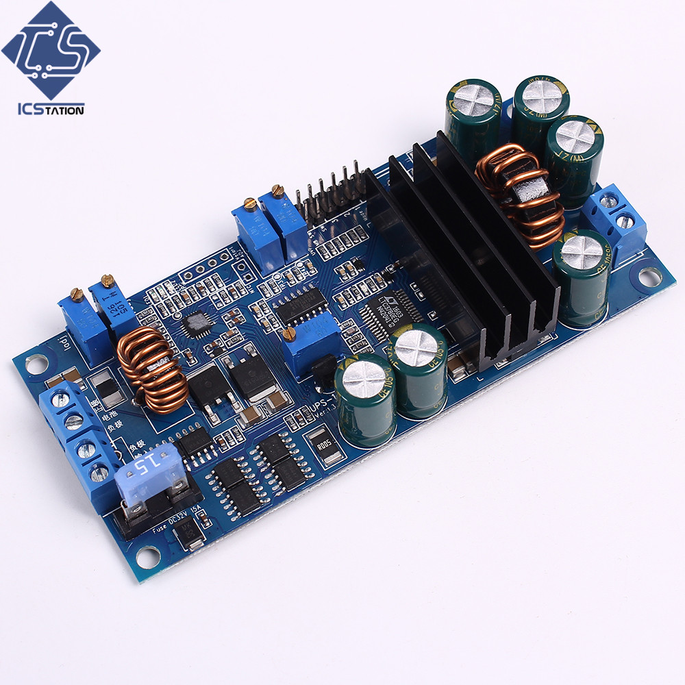 DC UPS Power Supply Module Precise For Indutrial Backup Power Overcurrent Short Circuit Protection 10-28V High End Module wcs1600 hall current sensors measuring 100a short circuit overcurrent protection module