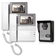 DIYSECUR 800 x 480 HD 4.3inch Video Intercom Video Door Phone Doorbell 1 Camera 2 Monitors for Home / Office Security System