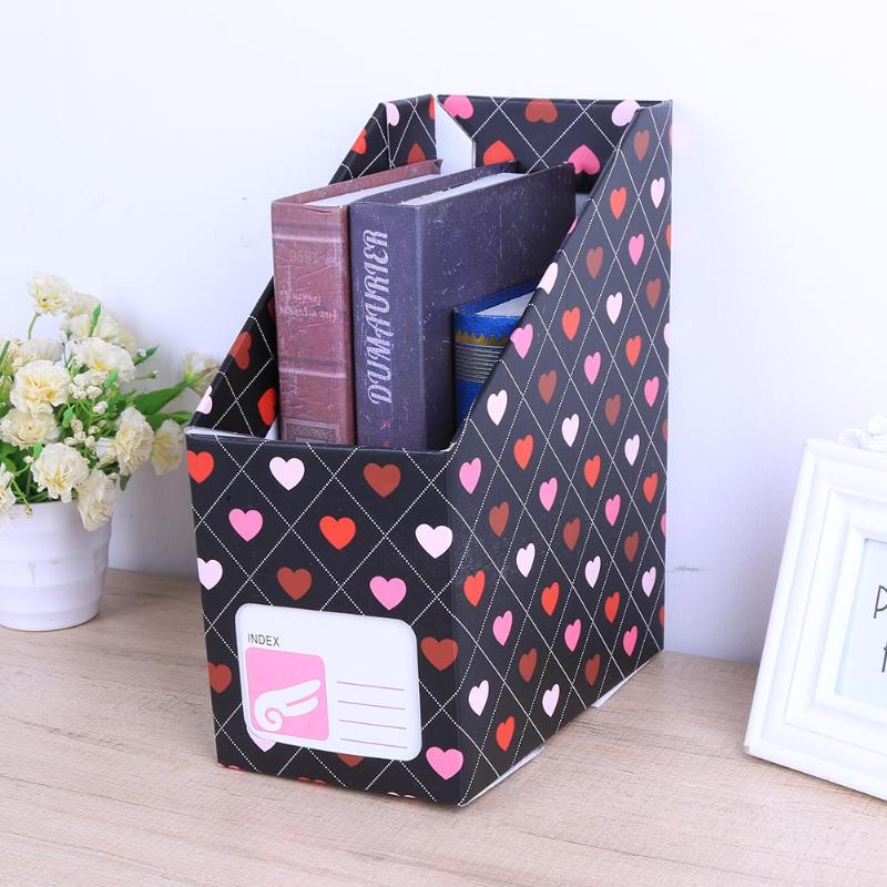 Desktop File Holder Organizer Box Heart Book Magazine Paper Storage Box Office Desktop File Holder Stationery Container все цены