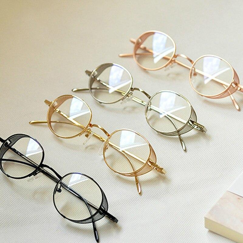SHELI accesorios Steampunk Metal miopía gafas marco para las mujeres ...
