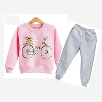 Girls Clothing Sets 2018 Spring Fall Children Tracksuits for Girls Long Sleeve Sweatshirt + Pants 2 Pieces Girls Sport Suit