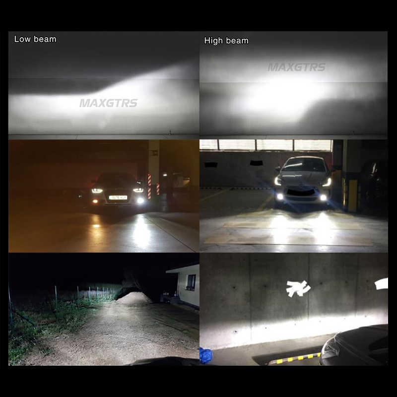 MAXGTRS Car LED Headlights H4 H11 H8 9005/HB3 9006/HB4 9012 70W 9000Lm Mini Auto Fog Lighting Replacement Bulbs 6000K 12V