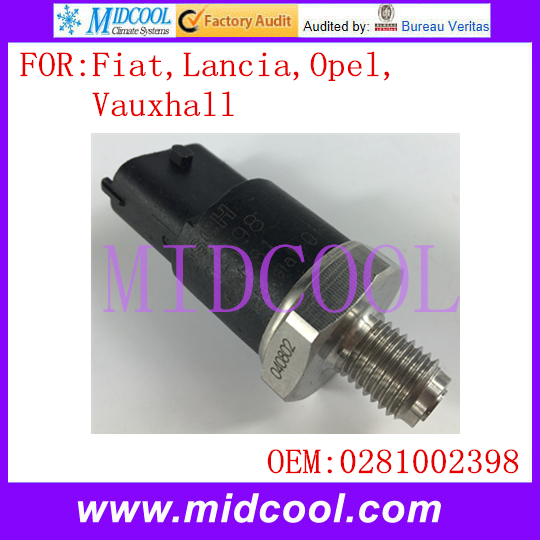 New Auto Fuel Pressure Sensor use OE No. 0281002398 , 4897501 , 8631588 , 4897225 , 0281002964 for Fiat Lancia Opel Vauxhall image