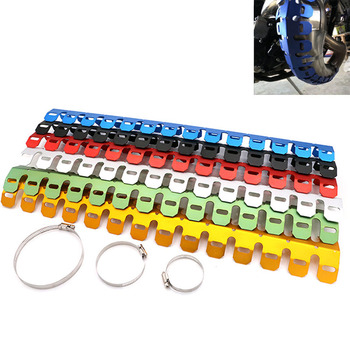 60cm Spider Style Motorcycle CNC Exhaust Manifolds Shield Cover Heat Protection Heel Guard Decorative