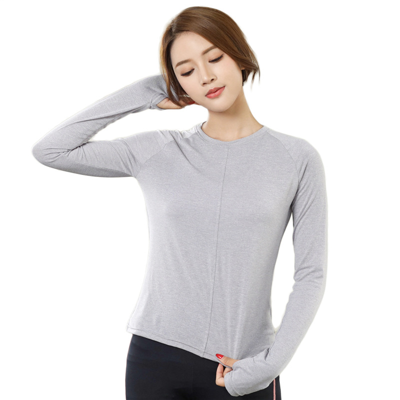 Top Quality Long Sleeve Yoga T shirt Women Breathable Yoga Top Ladies Gym Sport Top Fitness Solid Yoga Clothing Sports Fitness