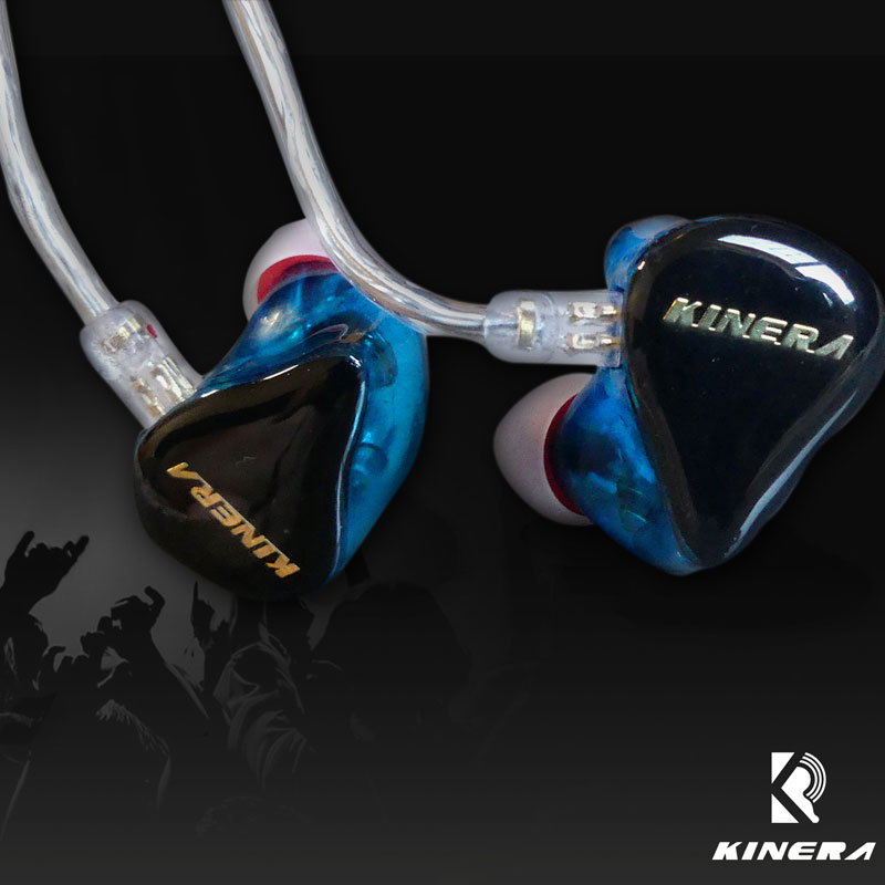 New KINERA H3 HIFI Music Headphone Dynamic with 2BA Hybrid 6 Unit Earphone Wired Sport In Ear Earphones with MMCX Cable and Mic fashion professional in ear earphones light blue black 3 5mm plug 120cm cable