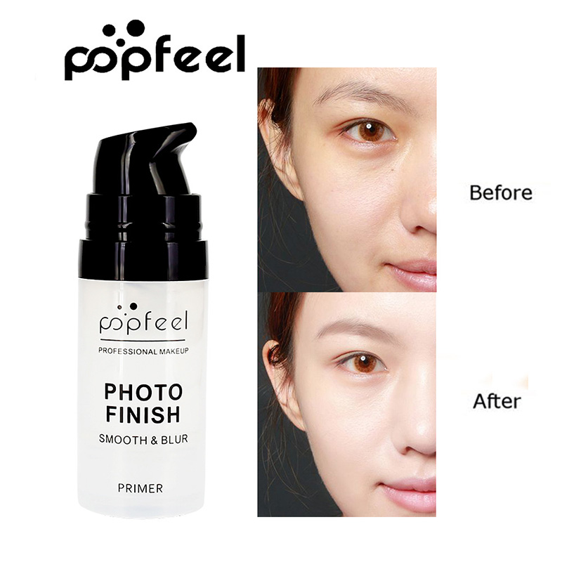 Popfeel New Mosturizing Face Primer Fond teint Make Up Pore Invisible Brighten Base Facial Oil Control Cosmetics 15 ML image