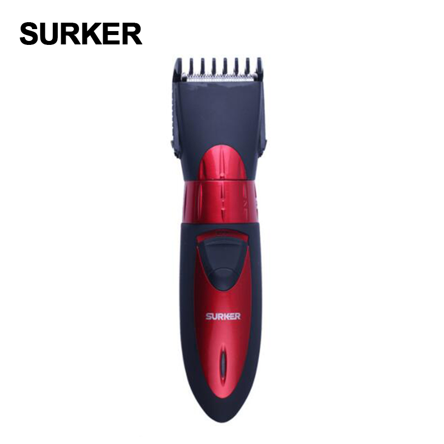 SURKER professional waterproof electric  Hair Clipper beard Trimmer  men children general hair cutting machine rechargeable sportsman 2017 top selling professional electric hair clipper trimmer knife head washable good quality men and children