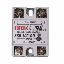 цена на SSR-100 DD Solid State Relay Module 100A 3-32V DC Input 5-60V DC Output Relay