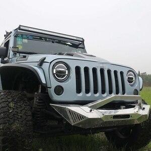 """Image 3 - Acessórios do carro led 7 Polegada farol para jeep wrangler jk 7 """"branco azul âmbar auréola faróis para hummer lada 4x4 urbano niva"""