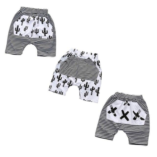 Toddler Trousers Casual Cotton Boys Harem Pants Long Strip Pattern