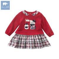 DB6083 Dave Bella Baby Princess Girl Wedding Birthday Dress Plaid Children Clothes Infant Designs GIRL S