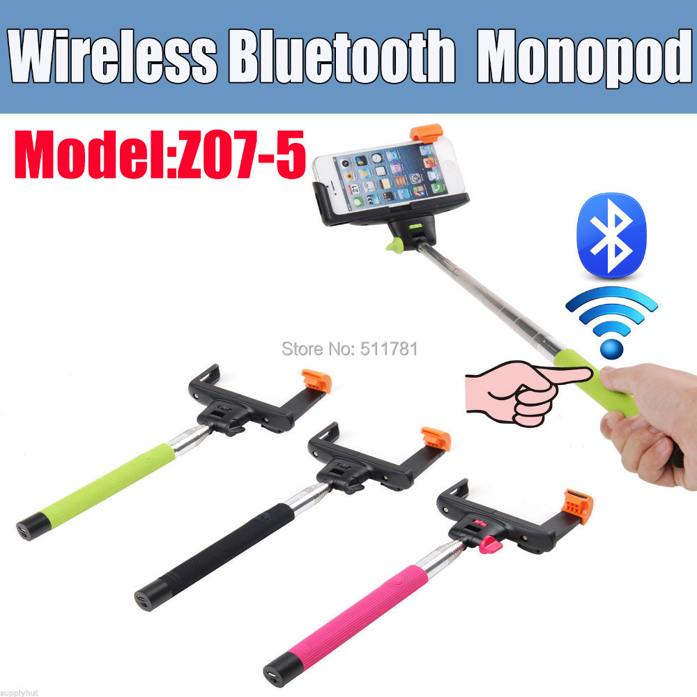 2 in 1 Extendable Handheld Wireless Bluetooth Monopod Selfie Stick for Iphone4/4s/5/5s/6/7 Plus IOS Samsung Android Smart Phone