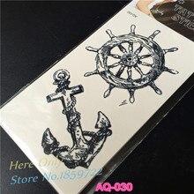 Fashion Temporary Waterproof Tattoo Stickers Body Art Viking Sailor Cultural Anchor Rudder Design Turkey Style Pirate Sailor