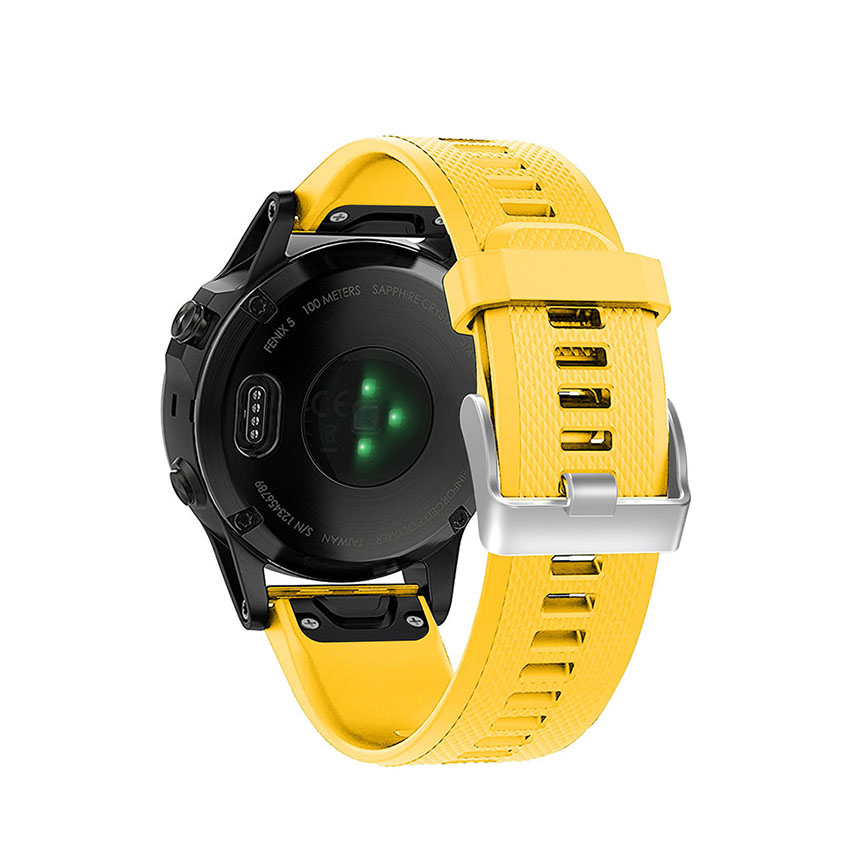 22MM Watchband Strap for Garmin Fenix 5 5 Plus Watch Quick Release Silicone Easyfit Wrist Band Strap for Garmin Fenix 5 Bracelet in Watchbands from Watches