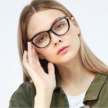 3a960f40f 2018 Novo Gato Olho Quadro Óculos Para As Mulheres Sexy Moda Retro Homens  Óculos de Nerd Lente Clara Óculos de Armação Oculos de.