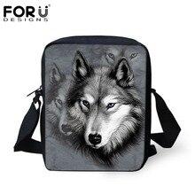 Marke Designer Männer Messenger Bags Coole Tiere Wolf Umhängetasche 3D Tiger Lion Gedruckt Umhängetasche männer Reisetasche handtasche
