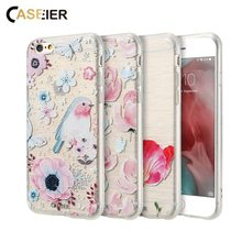 CASEIER Spring Phone Case For iPhone 6 6s Plus Flower Soft TPU Cases For iPhone 5 5S SE Shell Lovely Funda Capinha Accessories transparent imd skin soft tpu shell for iphone se 5s 5 butterfly and flower