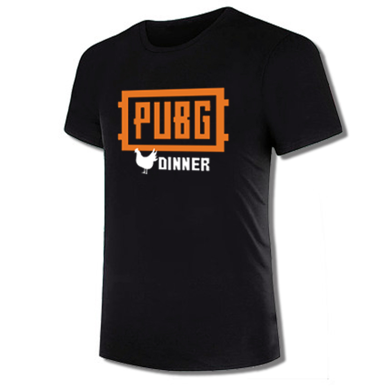 Cool PUBG T-shirt Fashion Tshirt 2017 Hot Game Playerunknown's Battlegrounds Winner Chicken Dinner Men's Short Sleeve Tee Top